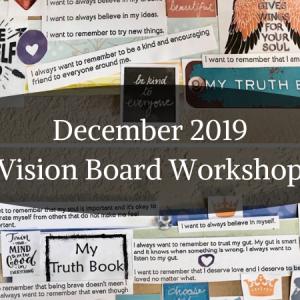 December 2019 Vision Board Workshop